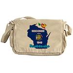 ILY Wisconsin Messenger Bag