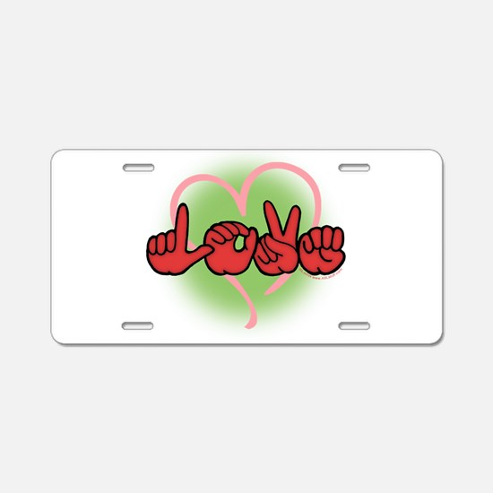 LoveWithHeart Aluminum License Plate