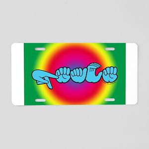 Rainbow PEACE Aluminum License Plate