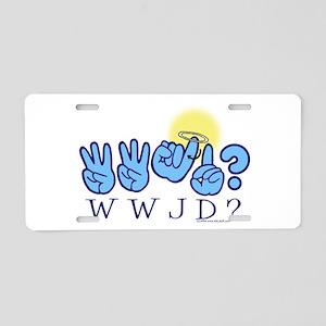 WWJD? Aluminum License Plate