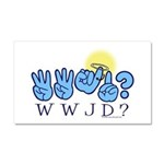 WWJD? Car Magnet 20 x 12