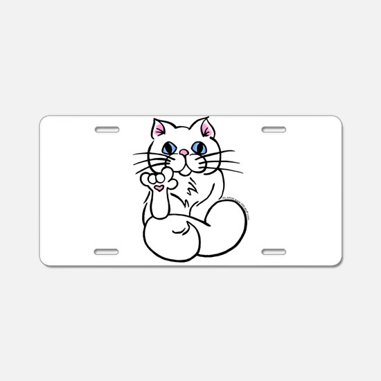 Longhair ASL Kitty Aluminum License Plate