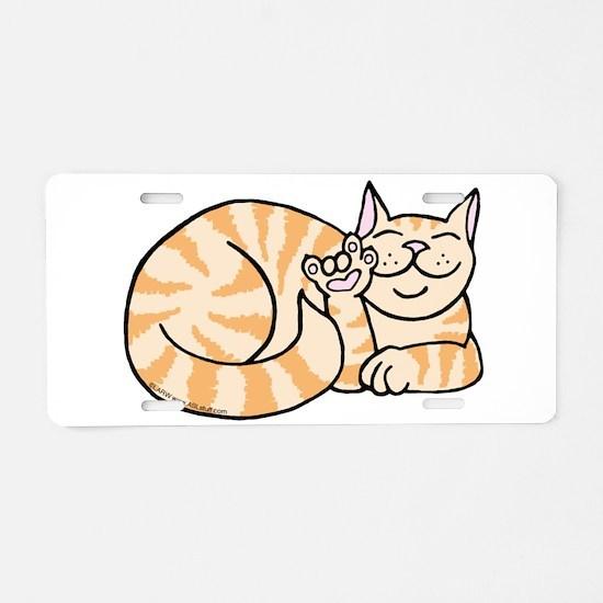 OrangeTabby ASL Kitty Aluminum License Plate