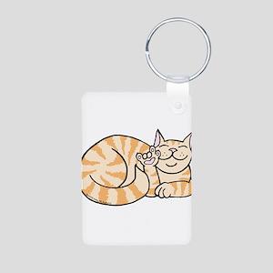 OrangeTabby ASL Kitty Aluminum Photo Keychain