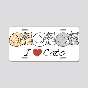 I Heart Cats Aluminum License Plate