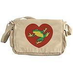 ASL Frog in Heart Messenger Bag