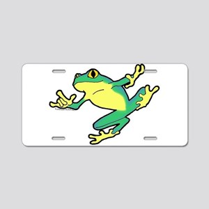 ASL Frog in Flight Aluminum License Plate