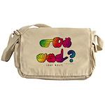 Got ASL? Rainbow SQ CC Messenger Bag