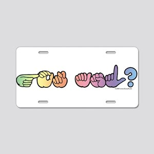 Got ASL? Pastel Aluminum License Plate