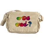 Got ASL? Rainbow SQ Messenger Bag