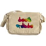 Deaf Pride Rainbow Messenger Bag