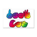 DEAF CAN Rainbow Car Magnet 20 x 12