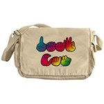 DEAF CAN Rainbow Messenger Bag