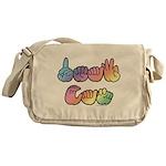 DEAF CAN Pastel Messenger Bag