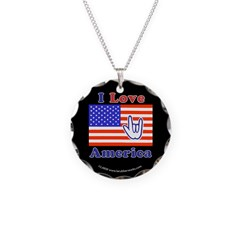 ILY America Flag Necklace