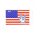 ILY Flag Aluminum License Plate