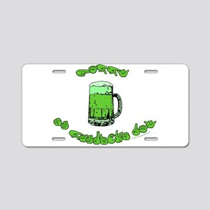 Happy St. Pat's Aluminum License Plate