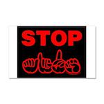 Stop AIDS Car Magnet 20 x 12