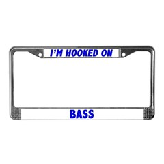 I'm Hooked On Bass License Plate Frame