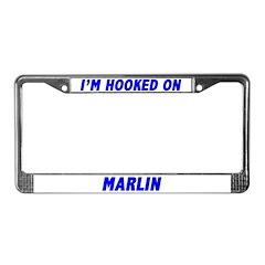I'm Hooked On Marlin License Plate Frame