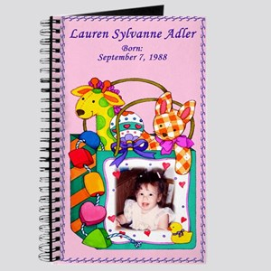 Girl's Personalized Giraffe Journal - Custom
