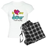 I-L-Y My Dog Women's Light Pajamas