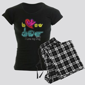 I-L-Y My Dog Women's Dark Pajamas