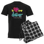 I-L-Y My Dog Men's Dark Pajamas