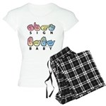 Captioned SIGN BABY SQ Women's Light Pajamas