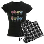 Captioned SIGN BABY SQ Women's Dark Pajamas