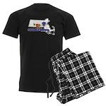 ILY Massachusetts Men's Dark Pajamas