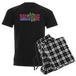ILY Aloha Hawaii Turtle Men's Dark Pajamas