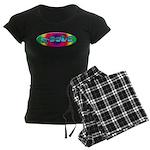 Rainbow PEACE Women's Dark Pajamas