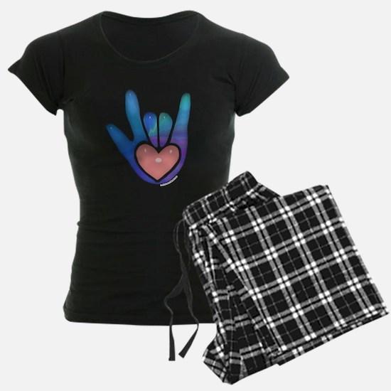 Blue/Pink Glass ILY Hand Pajamas