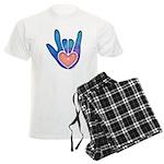 Blue/Pink Glass ILY Hand Men's Light Pajamas