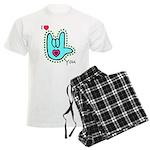 Aqua Bold I-Love-You Men's Light Pajamas