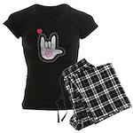 B/W Bold I-Love-You Women's Dark Pajamas