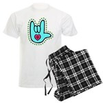 Aqua Bold Love Hand Men's Light Pajamas