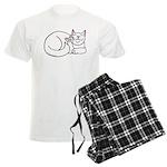 White ASL Kitty Men's Light Pajamas