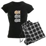3 ASL Kitties Women's Dark Pajamas