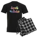 Deaf Pride Pastel Men's Dark Pajamas