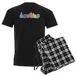 DEAFIE Pastel Men's Dark Pajamas