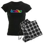 DEAFIE Rainbow Women's Dark Pajamas