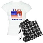 ILY America Flag Women's Light Pajamas