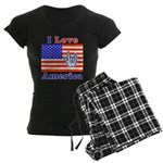 ILY America Flag Women's Dark Pajamas