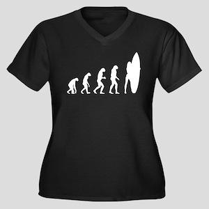 Evolution surfing Women's Plus Size V-Neck Dark T-