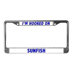I'm Hooked On Sunfish License Plate Frame