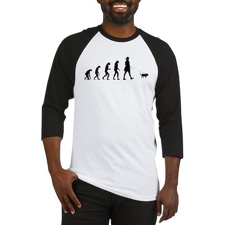 Evolution walking the dog Baseball Jersey