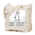 Obey Crochet Tote Bag