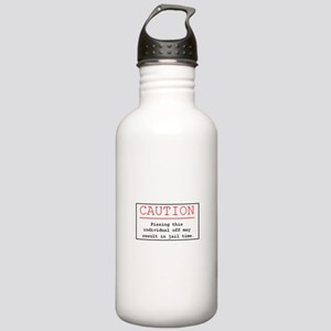 """You've Been Warned"" Stainless Water Bottle 1.0L"